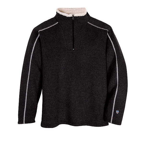 KUHL Europa 1/4 Zip Mens Mid Layer, Black, 600
