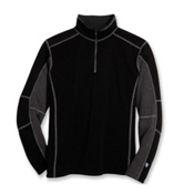 KUHL Revel 1/4 Zip Mens Sweater, Black-Steel, medium