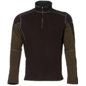 KUHL Revel 1/4 Zip Mens Sweater, Charcoal-Olive, medium