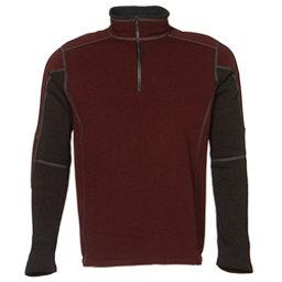 KUHL Revel 1/4 Zip Mens Sweater, Brick-Charcoal, 256
