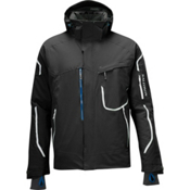Salomon Brilliant Mens Insulated Ski Jacket, Black-White, medium