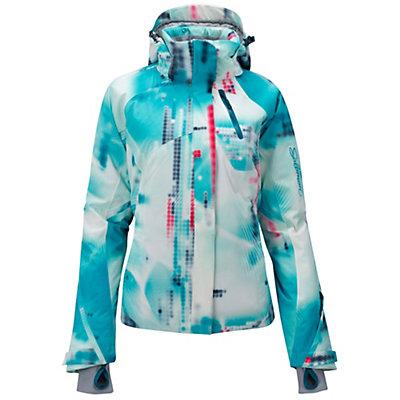 Salomon Brilliant Womens Insulated Ski Jacket, , viewer