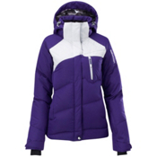 Salomon Pic Down Womens Insulated Ski Jacket, Eggplant-White, medium