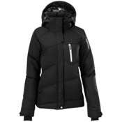 Salomon Pic Down Womens Insulated Ski Jacket, Black, medium