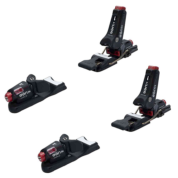 Knee Binding Carbon Wide Brake Ski Bindings 2017, Black, 600