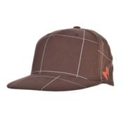 POC Checkered Cap Mens Hat, Brown, medium