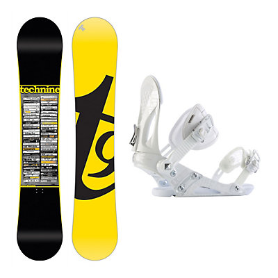 Tech Nine Team Dennison EX Snowboard and Binding Package, , large