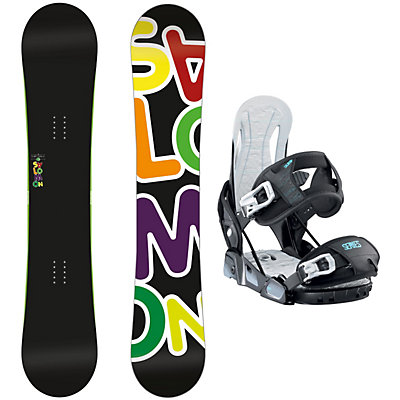 Salomon Drift Rocker Wide Relay Series Snowboard and Binding Package, , large