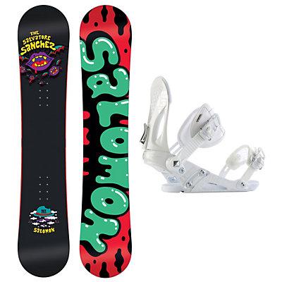 Salomon Salvatore Sanchez Black EX Snowboard and Binding Package, , large