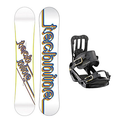 Tech Nine T9 White Spell Womens Snowboard and Binding Package, , large