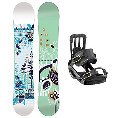 Salomon Lotus Spell Womens Snowboard and Binding Package, , large
