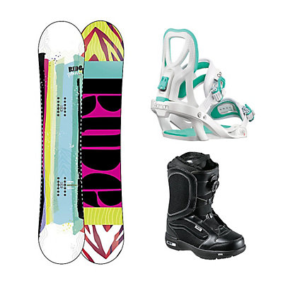 Ride Promise Stella Encore Womens Complete Snowboard Package, , large