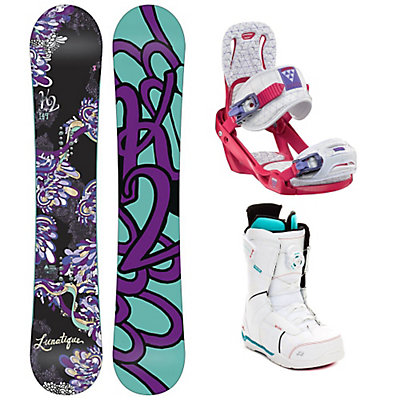 K2 Lunatique Celeste Sage Boa Womens Complete Snowboard Package, , large