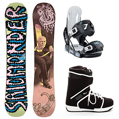Salomon Salomonder Blem Relay Series Outsider Complete Snowboard Package, , large