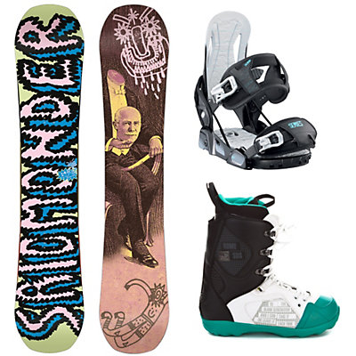 Salomon Salomonder Blem Relay Series Libertine Complete Snowboard Package, , large