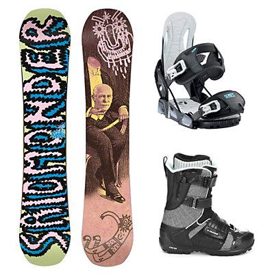 Salomon Salomonder Blem Relay Series Strapper AC Complete Snowboard Package, , large