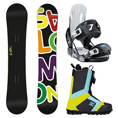 Salomon Drift Rocker Wide Relay Series Scout Complete Snowboard Package, , large