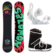 Salomon Salvatore Sanchez Black EX Outsider Complete Snowboard Package, , medium