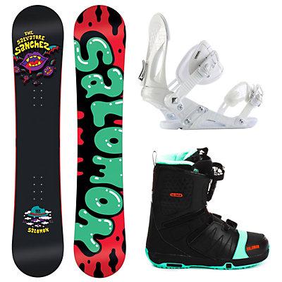 Salomon Salvatore Sanchez Black EX Faction FS Complete Snowboard Package, , large