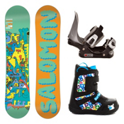 Salomon Team Junior Grom Kids Complete Snowboard Package, , medium