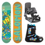 Salomon Team Grom Kids Complete Snowboard Package, , medium