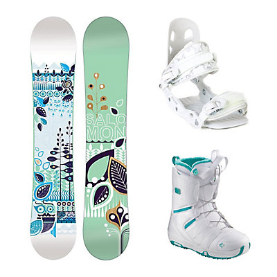 Salomon Lotus A5 Pearl Womens Complete Snowboard Package, , large
