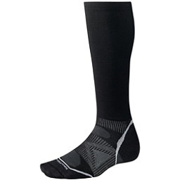 SmartWool PhD Graduated Compression Ultra Light Ski Socks, Black, 256