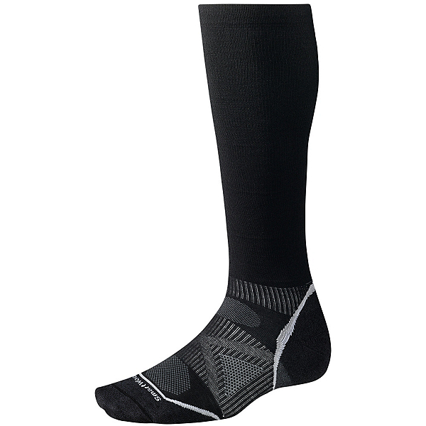 SmartWool PhD Graduated Compression Ultra Light Ski Socks, Black, 600