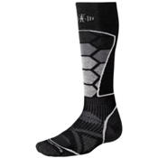 SmartWool PhD Ski Medium Ski Socks, Black-Gray, medium