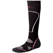 SmartWool PhD Ski Light Womens Ski Socks, Black, medium