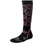 SmartWool PhD Medium Womens Ski Socks, Black-Berry, medium