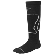 SmartWool Light-Cushioned Kids Snowboard Socks, Black, medium