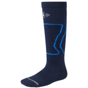 SmartWool Light-Cushioned Kids Snowboard Socks, Navy, medium