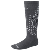 SmartWool Wintersport Shark Kids Ski Socks, Graphite, medium