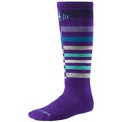 SmartWool Wintersport Stripe Kids Ski Socks, Grape, medium
