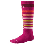 SmartWool Wintersport Stripe Kids Ski Socks, Berry, medium