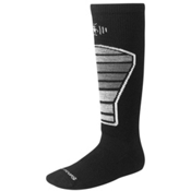SmartWool Racer Kids Ski Socks, Black-Gray, medium