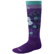 SmartWool Ski Racer Girls Ski Socks, Purple, medium