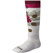 SmartWool Ski Racer Girls Ski Socks, Silver, medium