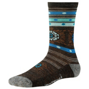 SmartWool Motley Flower Womens Socks, Chestnut Heather, medium