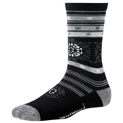 SmartWool Motley Flower Womens Socks, Black, medium
