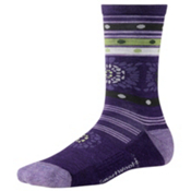 SmartWool Motley Flower Womens Socks, Imperial Purple, medium