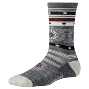 SmartWool Motley Flower Womens Socks, Light Gray Heather, medium