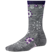 SmartWool Snow Swirl Womens Socks, Medium Gray Heather, medium