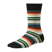 SmartWool Margarita Womens Socks, Black Multi Stripe, medium