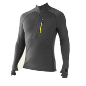 SmartWool Merinomax Half Zip Mens Mid Layer, Graphite, medium