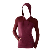 SmartWool Palisade Hoody Womens Sweater, Wine Heather, medium