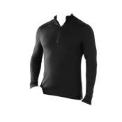 SmartWool Sportknit Half-Zip Mens Sweater, Black, medium