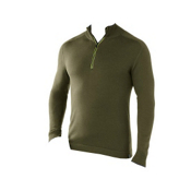 SmartWool Sportknit Half-Zip Mens Sweater, Forest, medium