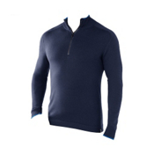 SmartWool Sportknit Half-Zip Mens Sweater, Navy Heather, medium